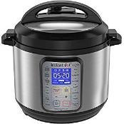 Instant Pot with cool blue controls