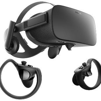 Virtual Reality Headset and controllers