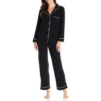 cozy and elegant 2 piece silk pajamas.